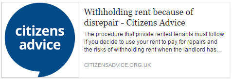 All about withholding rent because of disrepair in your rented property.