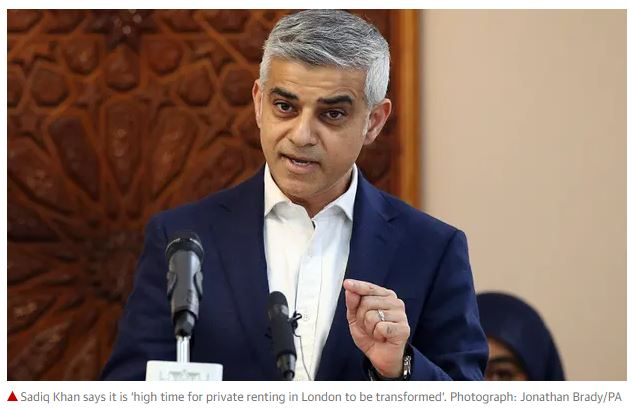 Sadiq Khan says London election will be vote on rent controls